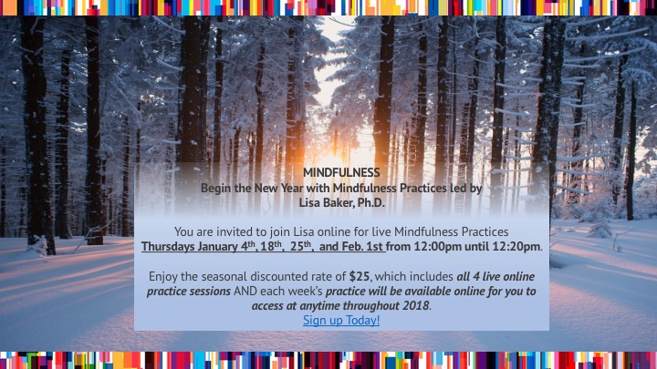 Mindfulness January 2018 Invitation